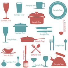 Tableware Icons Set