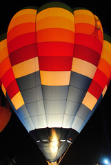 night short of hot air balloon.
