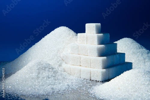sugar pyramid and sand sugar