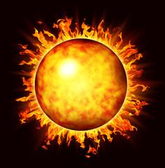 Abstract fireball