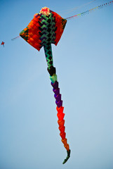 Colorful kite on the sky.