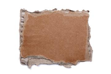 Torn cardboard blank sign