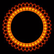 Abstract flame circle
