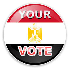 vote icon with Egypt flag