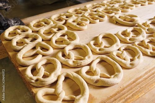unbaked pretzel dough
