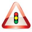 Panneau de signalisation Feux tricolore