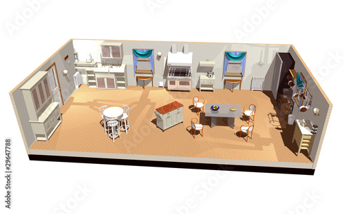 Cucina-Kitchen-3D