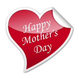 Pegatina corazon Happy Mother's Day con reborde