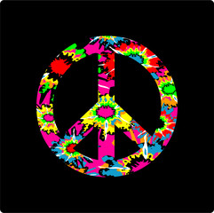 Tie Dye Peace Sign