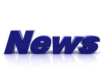 Schriftzug News blau
