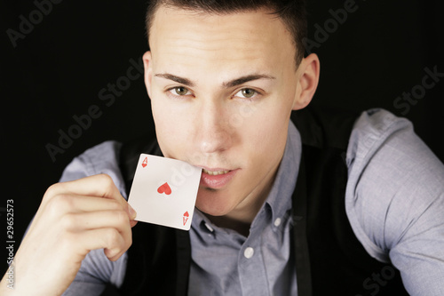 Pokerspieler Ass