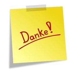 Notizzettel Danke III
