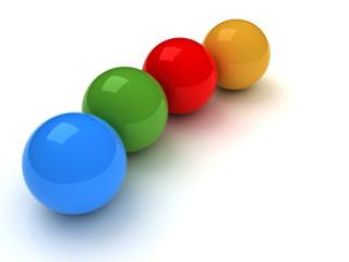 3d sfere colorate
