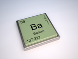 Barium chemical element of the periodic table with symbol Ba poster
