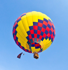 colorful hot air balloon against blue sky