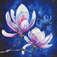 Acrílico Magnolia pintada