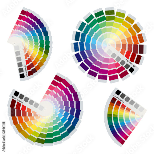 Color Charts Icons Set