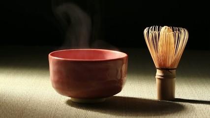 抹茶茶碗と茶せん