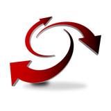 Fototapety icona frecce