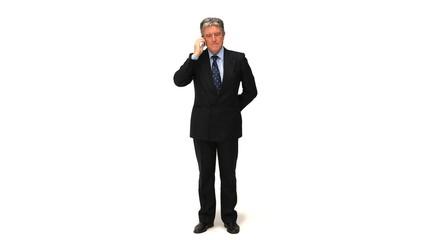 A businessman making a phone call