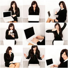 Business Frau online - Collage