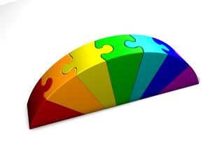 Puzzle Regenbogen 02