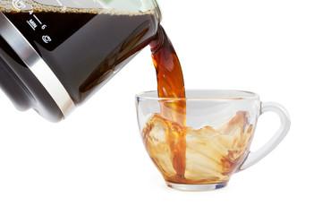 pouring splashing coffee