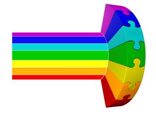 Puzzle Regenbogen 04