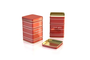 red tea valentin box
