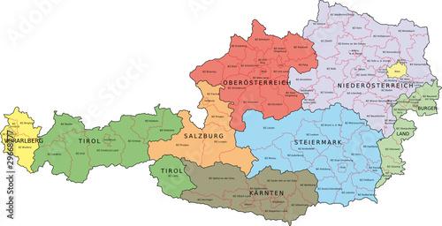 Österreich, Bundesländer, Bezirke