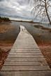 Dock on Reed Lake in Northern Manitoba