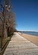 boardwalk and sand at Winnipeg Beach Manitoba