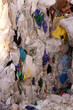 Waste Plastic Stacked at a Recycling Plant