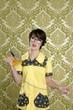 housewife nerd retro unhappy iron chores