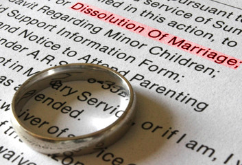 A Divorce Petition and Gold Wedding Band