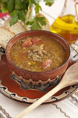 Traditional Bulgarian Lentil Soup