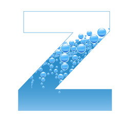 Bubbles and Water Isolated Alphabet Letter Z bis