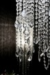 crystal strass lamp white over black background - 29673573