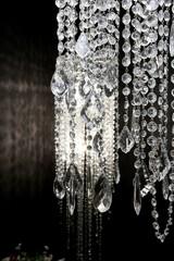 crystal strass lamp white over black background