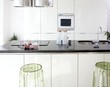 Modern white kitchen clean interior design