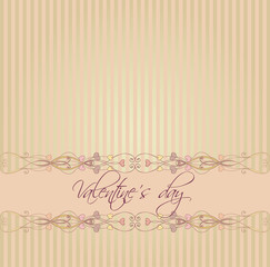 cute floral romantic Valentine's Day background