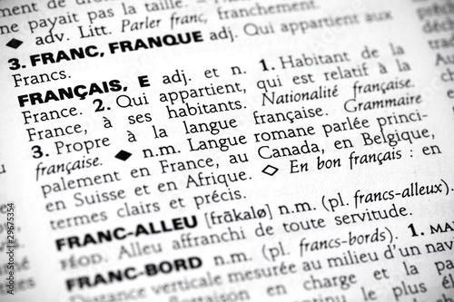 Français in the dictionary - 29675354