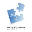 logo puzzle (square blue)