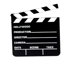 Clapperboard motion picture production