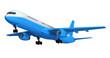 Blue isolated passenger liner