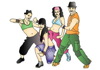 Zumba dancers