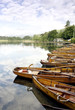 Rowing boats on Lake Windermere, Ambleside, Lake District, UK