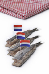 "Dutch traditional ""hollandse nieuwe"" raw herring"
