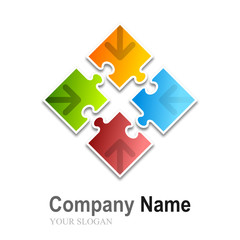 logo puzzle (multi-colors with arrows)