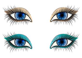 opened blue feminine eye